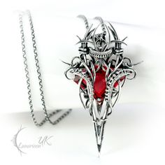 GHANRDELL - silver and red quartz by LUNARIEEN.deviantart.com on @deviantART