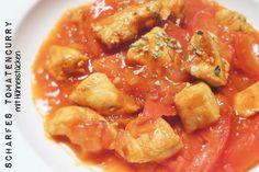 Scharfes Tomatencurry mit Hühnerstücken