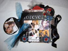 Twilight Edward & Bella paper bag scrapbook album I made and sold on ebay