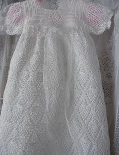 Heirloom Baptism Christening Blessing Gown por KiddoKnitsnQuilts