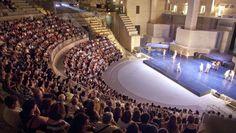 El Teatro Romano de Sagunto durante uno de los espectáculos del Festival