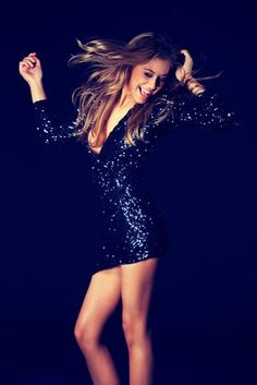 dream party dress, black, short, glittery, great