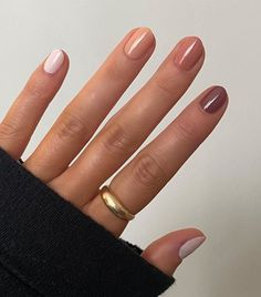 Nude Nails, Acrylic Nails, Essie, Multicolored Nails, Colourful Nails, Fall Nail Colors, Nail Colour, Different Colour Nails, One Color Nails