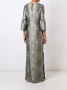 Multicolour wool printed gown from Vilshenko