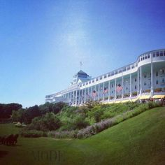 The Grand Hotel in Mackinac Island. Incredible historic hotel with the worlds longest porch.
