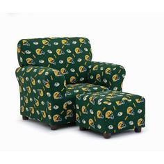 Kidz World Green Bay Packers Club Chair and Ottoman Set Go Packers, Packers Football, Football Season, Greenbay Packers, Green Bay Packers Wallpaper, Green Bay Packers Fans, Baby Fist, Katie Green, Chair And Ottoman Set