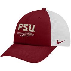 promo code f6a00 f0833 Men s Nike Garnet White Florida State Seminoles Trucker Adjustable  Performance Hat Florida State Seminoles,