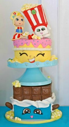 Shopkins, Birthday Cake, Facebook, Sweet, Table, Desserts, Food, Candy, Tailgate Desserts