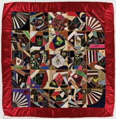 The International Quilt Study Center & Museum exhibits A Fairyland of Fabrics: The Victorian Crazy Quilt Victorian Quilts, Antique Quilts, Vintage Quilts, Rustic Quilts, Quilt Display, Civil War Quilts, Types Of Embroidery, Quilt Making, Quilt Blocks