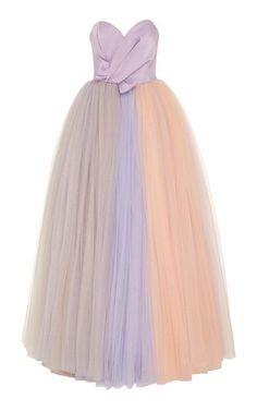 Rainbow Tulle Strapless Gown by Viktor & Rolf SOIR Resort 2019
