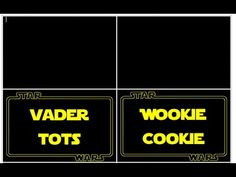 Star Wars Printable Tutorials 1:  How to make tent food tags with MS Word