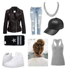 """""""Tomboy"""" by charlest ❤ liked on Polyvore featuring Anine Bing, K-Swiss, Michael Kors, David Yurman and Givenchy"""