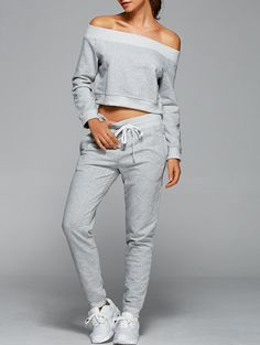 Sweatshirt With Pants Gym Outfits