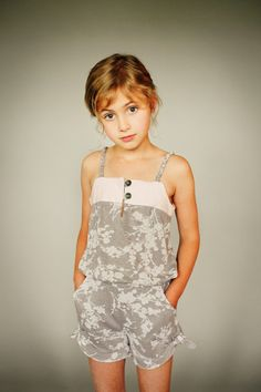 Dress/Romper Pattern, ZEPHYR by Figgy's, Cute Modern little girl dress/romper. $17.00, via Etsy.
