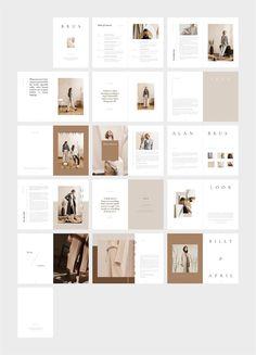 fashion magazine BRUS Fashion Magazine am - fashion Portfolio Design, Mise En Page Portfolio, Portfolio Layout, Graphisches Design, Flat Design, Logo Design, Graphic Design, Cover Design, Lookbook Design