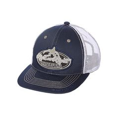 Rig Em Right Waterfowl Trucker Hat - Navy and White f29fa124b1eb