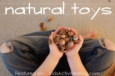 nature education activities - it's just about acorn season here and I can't wait! What other natural materials do your kids play with?