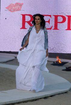 Alessandra Ambrosio walks for REPLAY s/s'15 - Mykonos, Greece - May 8, 2015