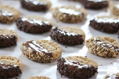 Classic peanut butter cookies get a stylish upgrade with chocolate. You're going to love these Chocolate-Dipped Peanut Butter Cookies. Kid Desserts, Fancy Desserts, Homemade Desserts, Cookie Desserts, Cookie Recipes, Dessert Recipes, Cookie Ideas, Chocolate Dipped, Chocolate Cookies