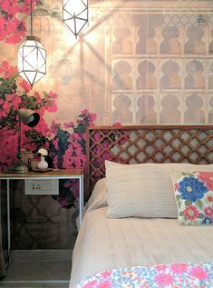 Garden Style Vintage Bedroom Reveal • One Brick At A Time Indian Bedroom Decor, Indian Room, Ethnic Home Decor, Indian Home Decor, Home Decor Bedroom, Indian Bedroom Design, Ethnic Bedroom, Bedroom Ideas, Indian Theme
