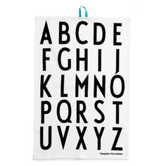 teatowels for totebags?? Geschirrtuch - ABC l Designletters - Typography Arne Jacobsen