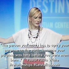 Pastor Paula White teaching on #relationships .