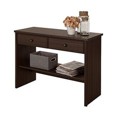 South-Shore-Beaujolais-Console-Table-with-2-Drawers-Matte-Brown-0