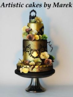 Wedding cakes by Marek - http://cakesdecor.com/cakes/304682-wedding-cakes