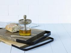 Eliot Rectangular Board with Iron Handle from Academy Home Goods Tableware on The Life Creative