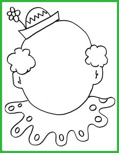 Clown Coloring Pages Circus clown face coloring sheet Circus Art, Circus Clown, Circus Theme, Clown Crafts, Carnival Crafts, Colouring Pages, Coloring Sheets, Coloring Books, Le Clown