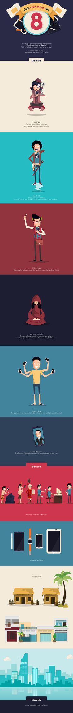 The Revolution of Gossip - Samsung's viral clip by Tú Bùi, via Behance