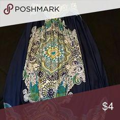 Dress Full length maxi dress; beautiful print; very flattering on any body type. Dresses Maxi