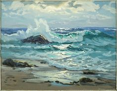 View Moonlight by Charles Vickery on artnet. Browse upcoming and past auction lots by Charles Vickery. Seascape Paintings, Landscape Paintings, Painting Trees, Oil Paintings, Landscapes, Nature Photography Tips, Ocean Photography, Wedding Photography, Ocean Sunset