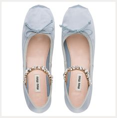 we are swooning over these sweet soft blue ballerina flats -the perfect something blue!