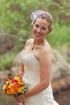 DIY Colorado Rocky Mountain Ranch Rustic Wedding | Confetti Daydreams - Our Real Bride, Lauren's, bridal bouquet was a floral amazement of bright colors and textures to contrast beautifully with their rustic and ranch wedding look ♥ #DIY #Ranch #Rustic #WeddingTheme
