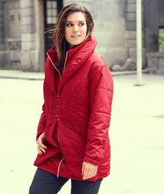 Steppjacke #plussize #ullapopken #jacket #jacke #rot