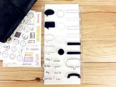 Clear planner stamps set - journal/diary stamps, transparent stamps, to do,must do, important,conversation boxes stamps ,st004