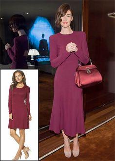 PAZ VEGA  La actriz española se lució con este vestido color ciruela de la colección de otoño 2013 de Gucci, cuyo precio original es $2,700....