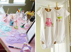 Paint-A-Onesie // Baby Shower Games that are fun for everyone!