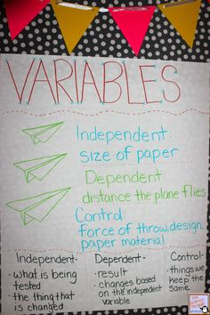 Time to Teach Types of Variables with paper airplanes!