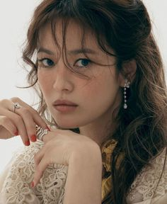 Song Hye Kyo is elegant and sophisticated in her newest photoshoot for jewelry brand Chaumet. The beautiful actress is the global… Song Hye Kyo, Song Joong Ki, Chaumet, Light Brown Hair, Radiant Skin, Korean Actresses, Korean Beauty, Asian Beauty, Jewelry Branding
