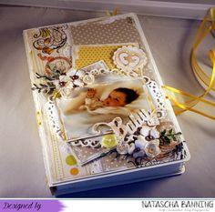 Babybuchkarte auf meinem Blog: http://nataschas-blog.blogspot.de/2015/06/baby-buchkarte-in-creme-gelb.html