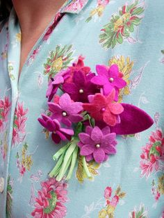 Felt flowers- do it for a headband though- no stems, less flowers