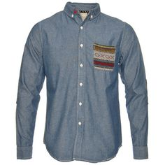 Native Youth Denim Shirt-Classic denim shirt with an aztec style chest pocket.