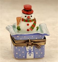Limoges Snowman in Gift Pack Box.