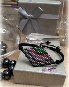 Βραχιόλι Ρόμβος κεντημένο με γνήσιες χάντρες miyuki! Beaded Bracelets, Jewelry, Jewlery, Bijoux, Pearl Bracelets, Schmuck, Jewerly, Jewels, Jewelery