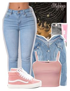 """‍♀️"" by tybkya ❤ liked on Polyvore featuring Casetify, Clinique, Topshop, WearAll and Vans"