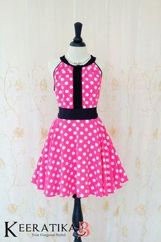 Luna Night Sweet Dress Pleated Top Dress White Polka Dot Dress Pink Summer Dress Prom Party Dress Hot Pink Wedding Bridesmaid Dress XS-XL