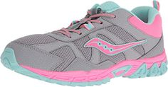 Saucony Kids Womens Escape Big Kid GreyCoralTurquoise 5W *** Details can be found by clicking on the image. (This is an affiliate link)