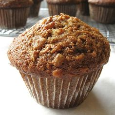 "Morning Glory Muffins - This recipe, a throwback to the ""back to the land"" '60s, brings together all kinds of fruits and vegetables in an earthy, delicious whole-grain muffin."